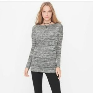 White House Black Market Spacedye Dolman Tunic